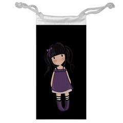 Dolly Girl In Purple Jewelry Bag by Valentinaart