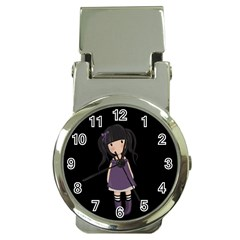 Dolly Girl In Purple Money Clip Watches by Valentinaart