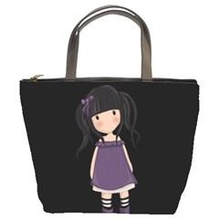 Dolly Girl In Purple Bucket Bags by Valentinaart