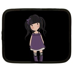 Dolly Girl In Purple Netbook Case (xl)  by Valentinaart
