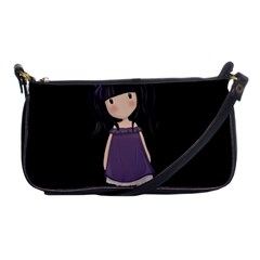 Dolly Girl In Purple Shoulder Clutch Bags by Valentinaart
