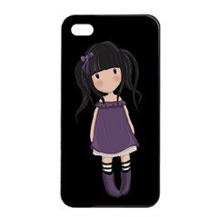 Dolly Girl In Purple Apple Iphone 4/4s Seamless Case (black) by Valentinaart