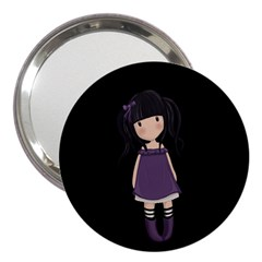 Dolly Girl In Purple 3  Handbag Mirrors by Valentinaart