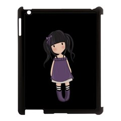 Dolly Girl In Purple Apple Ipad 3/4 Case (black) by Valentinaart