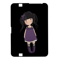 Dolly Girl In Purple Kindle Fire Hd 8 9  by Valentinaart