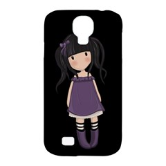 Dolly Girl In Purple Samsung Galaxy S4 Classic Hardshell Case (pc+silicone) by Valentinaart