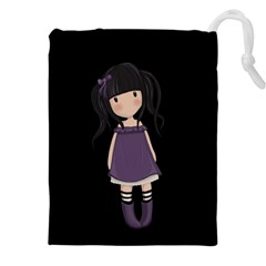 Dolly Girl In Purple Drawstring Pouches (xxl) by Valentinaart