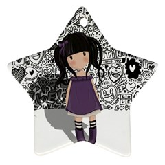 Dolly Girl In Purple Ornament (star) by Valentinaart