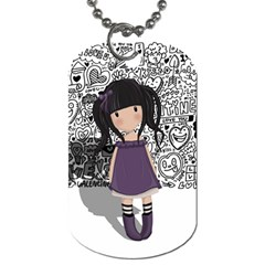 Dolly Girl In Purple Dog Tag (two Sides) by Valentinaart