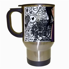 Dolly Girl In Purple Travel Mugs (white) by Valentinaart