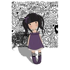 Dolly Girl In Purple 5 5  X 8 5  Notebooks by Valentinaart