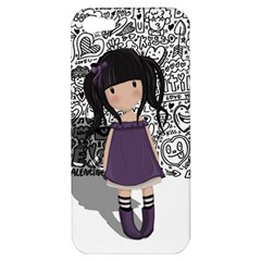 Dolly Girl In Purple Apple Iphone 5 Hardshell Case by Valentinaart