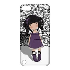 Dolly Girl In Purple Apple Ipod Touch 5 Hardshell Case With Stand by Valentinaart