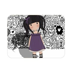 Dolly Girl In Purple Double Sided Flano Blanket (mini)  by Valentinaart