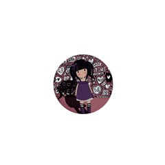 Dolly Girl In Purple 1  Mini Magnets by Valentinaart