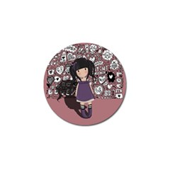 Dolly Girl In Purple Golf Ball Marker (10 Pack) by Valentinaart