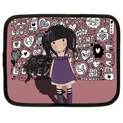 Dolly Girl In Purple Netbook Case (xl)  by Valentinaart