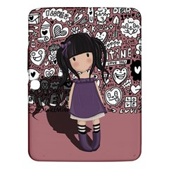 Dolly Girl In Purple Samsung Galaxy Tab 3 (10 1 ) P5200 Hardshell Case  by Valentinaart