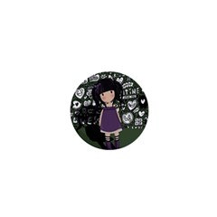 Dolly Girl In Purple 1  Mini Buttons by Valentinaart