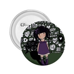 Dolly Girl In Purple 2 25  Buttons by Valentinaart