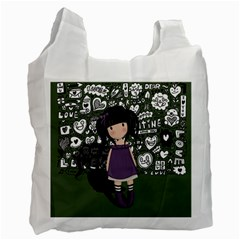 Dolly Girl In Purple Recycle Bag (one Side) by Valentinaart