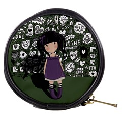 Dolly Girl In Purple Mini Makeup Bags by Valentinaart