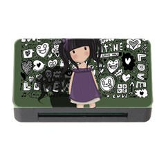 Dolly Girl In Purple Memory Card Reader With Cf by Valentinaart