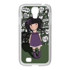 Dolly Girl In Purple Samsung Galaxy S4 I9500/ I9505 Case (white) by Valentinaart