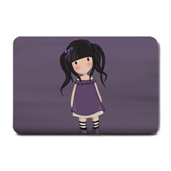 Dolly Girl In Purple Small Doormat  by Valentinaart