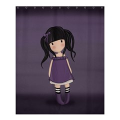 Dolly Girl In Purple Shower Curtain 60  X 72  (medium)  by Valentinaart