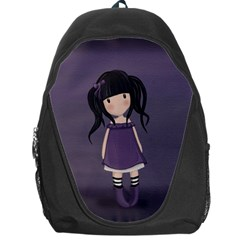Dolly Girl In Purple Backpack Bag by Valentinaart