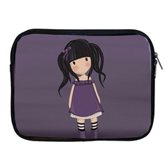 Dolly Girl In Purple Apple Ipad 2/3/4 Zipper Cases by Valentinaart