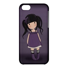 Dolly Girl In Purple Apple Iphone 5c Hardshell Case by Valentinaart