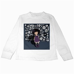 Dolly Girl In Purple Kids Long Sleeve T Shirts by Valentinaart