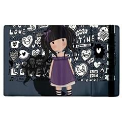 Dolly Girl In Purple Apple Ipad 2 Flip Case