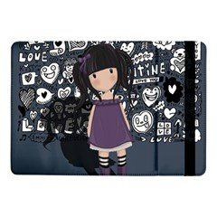 Dolly Girl In Purple Samsung Galaxy Tab Pro 10 1  Flip Case by Valentinaart