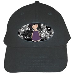 Dolly Girl In Purple Black Cap by Valentinaart
