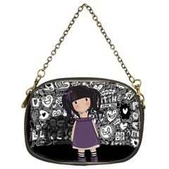 Dolly Girl In Purple Chain Purses (one Side)  by Valentinaart
