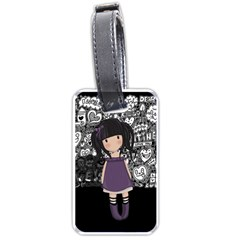 Dolly Girl In Purple Luggage Tags (two Sides)