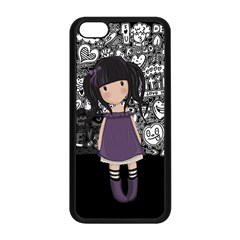 Dolly Girl In Purple Apple Iphone 5c Seamless Case (black) by Valentinaart