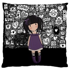 Dolly Girl In Purple Standard Flano Cushion Case (one Side) by Valentinaart
