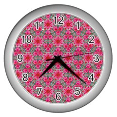 Diamond Star Wall Clocks (silver)  by Cveti