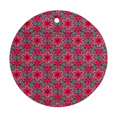 Diamond Star Round Ornament (two Sides) by Cveti