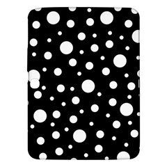 White On Black Polka Dot Pattern Samsung Galaxy Tab 3 (10 1 ) P5200 Hardshell Case