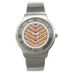 Flower Of Life Pattern 5 Stainless Steel Watch by Cveti