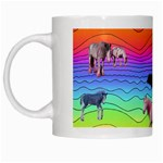 Horses in Rainbow White Mugs