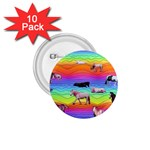 Horses in Rainbow 1.75  Buttons (10 pack)