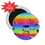 Horses in Rainbow 2.25  Magnets (10 pack)