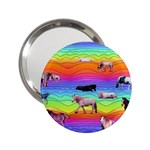 Horses in Rainbow 2.25  Handbag Mirrors