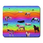 Horses in Rainbow Large Mousepads